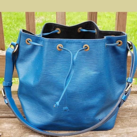 Louis Vuitton Handbags - Louis Vuitton Authentic Petit Noe Epi Blue